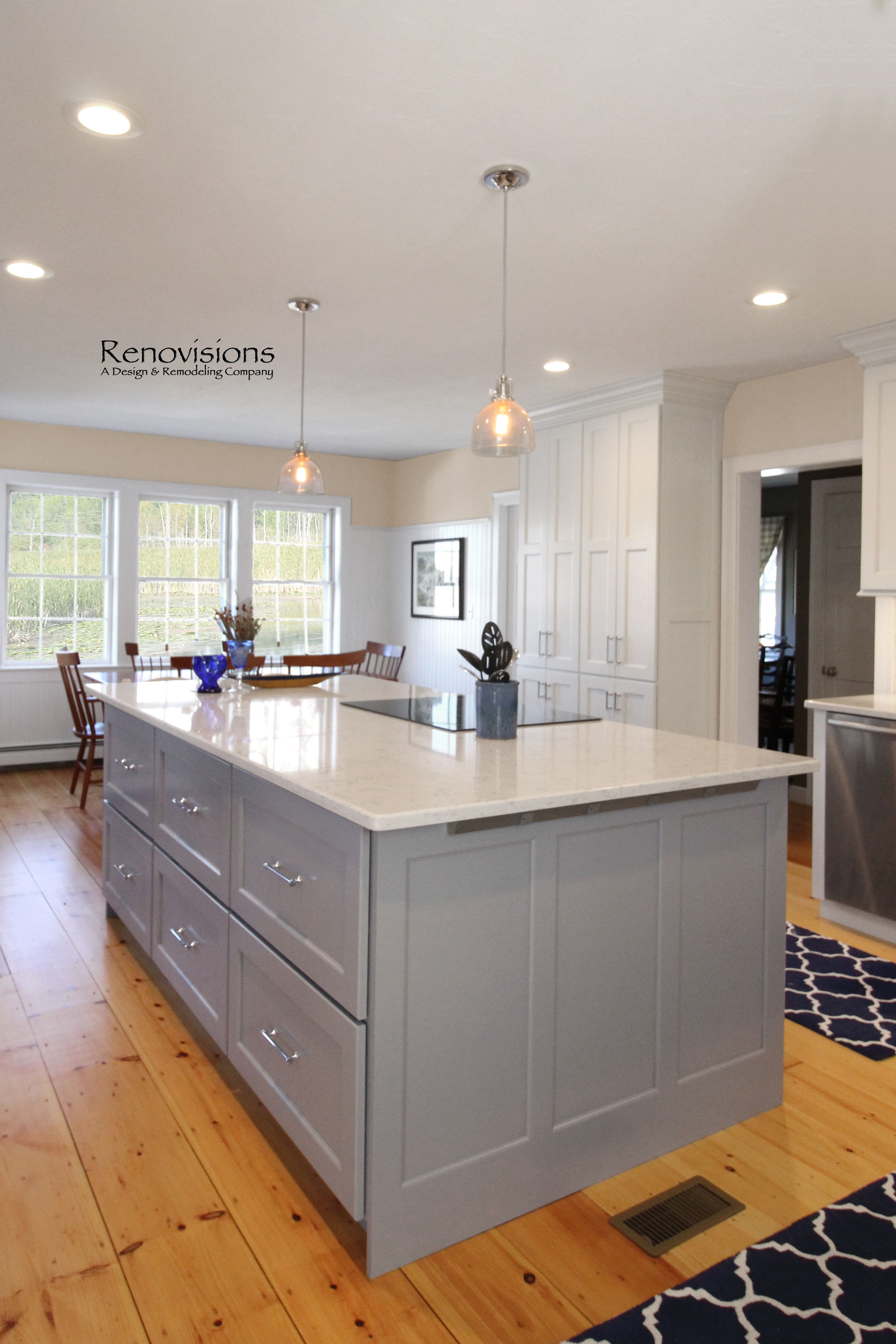 A completed kitchen remodel by Renovisions Kitchen