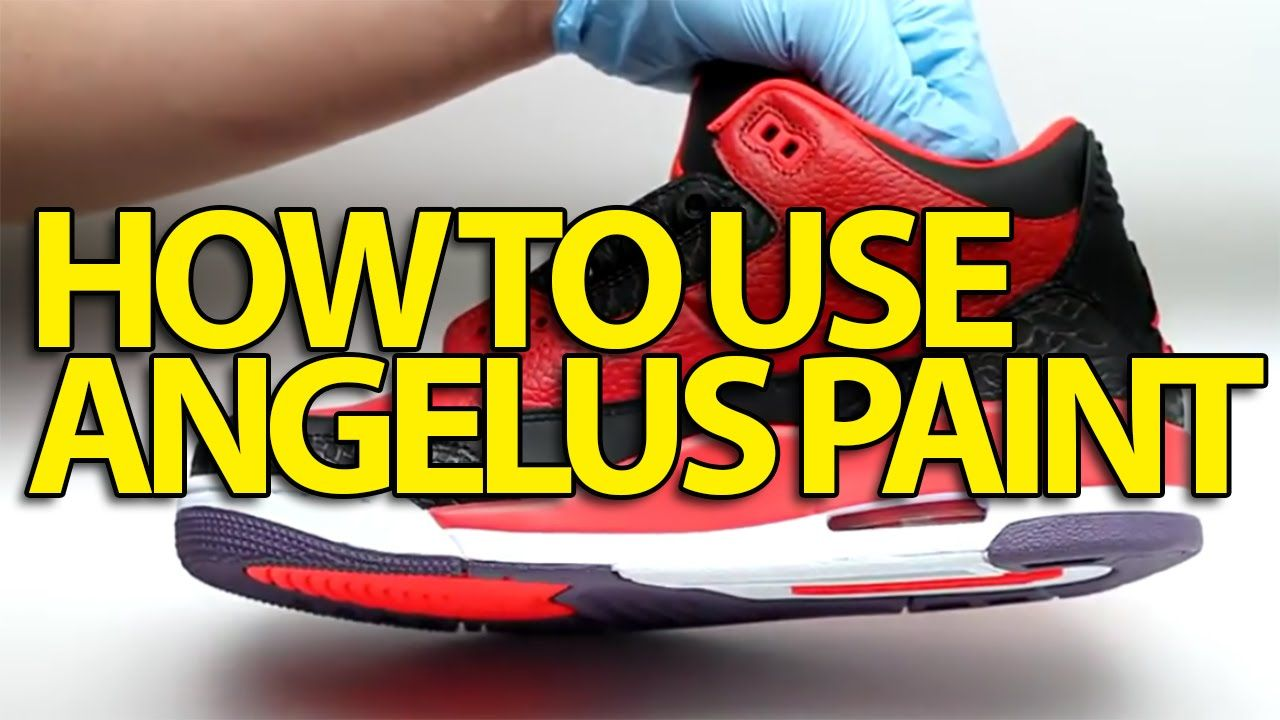 Angelus Leather Paint Customize Clean and