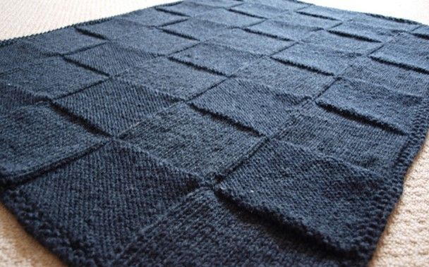 Stylish Knitted Square Blanket Free Knitting Pattern Knit And