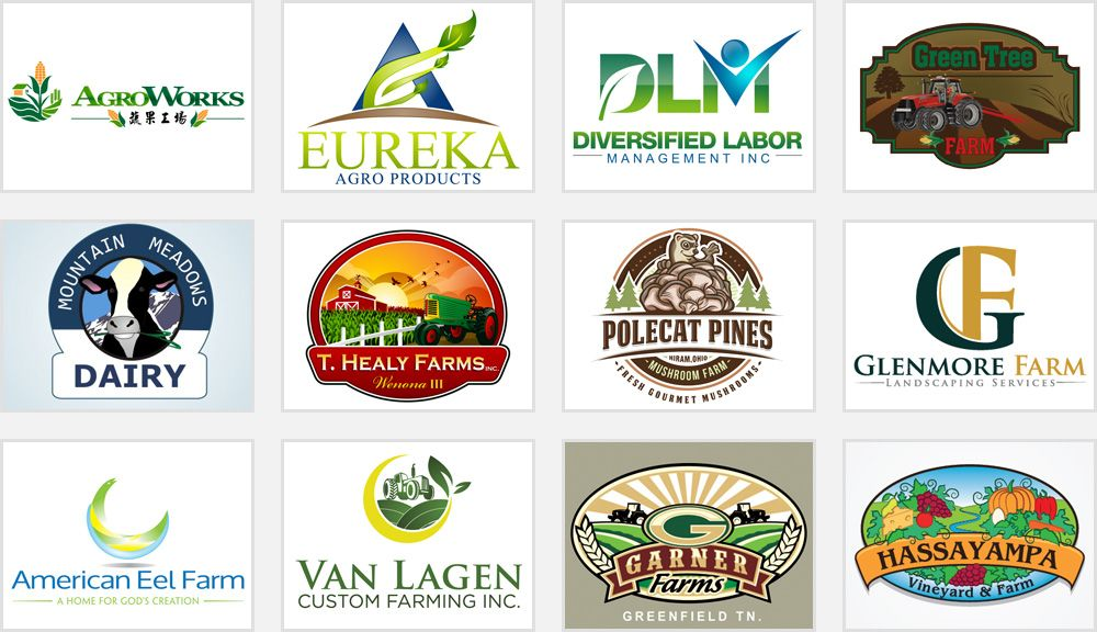 Beautiful Farm and Agriculture Logos Farm logo design