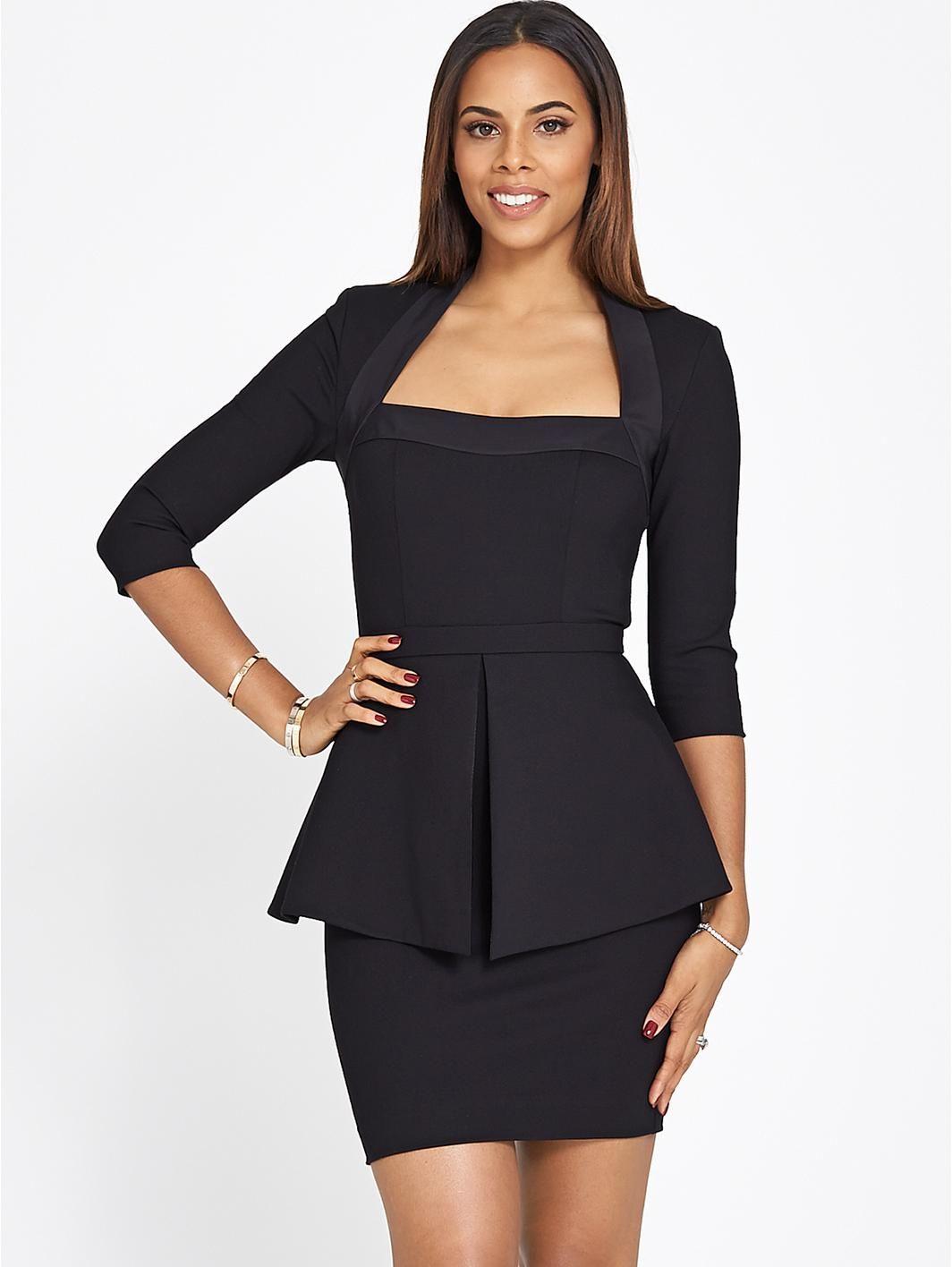 Black dress very - Peplum Dress Http Www Very Co Uk Rochelle