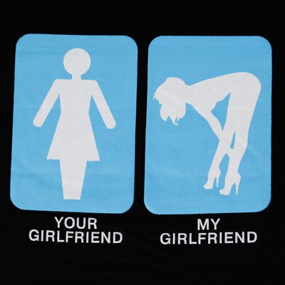 c3aa9ae9e Sliced Tee - Quirky, Funny Offensive, rude T-shirts. - Your Girlfriend My  Girlfriend T-Shirt