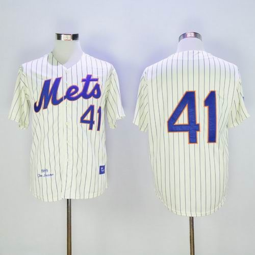 buy mitchell and ness 1969 mets tom seaver creamblue strip throwback stitched baseball jersey from reliable mitchell and ness 1969 mets tom seaver