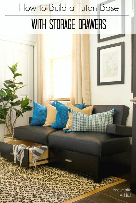 how to give your futon a major upgrade by building a custom wood rh pinterest com