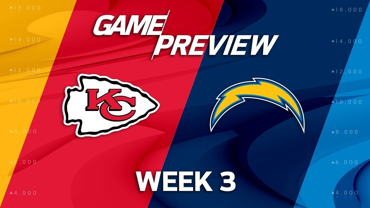 Kansas City Chiefs Vs Los Angeles Chargers Week 3 Game Preview Move Los Angeles Chargers Kansas City Chiefs Kansas City