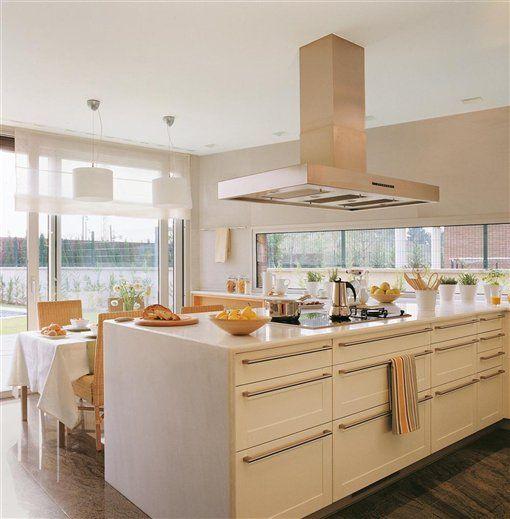 Cocinas en blanco: luz, amplitud y belleza · elmueble.com ...