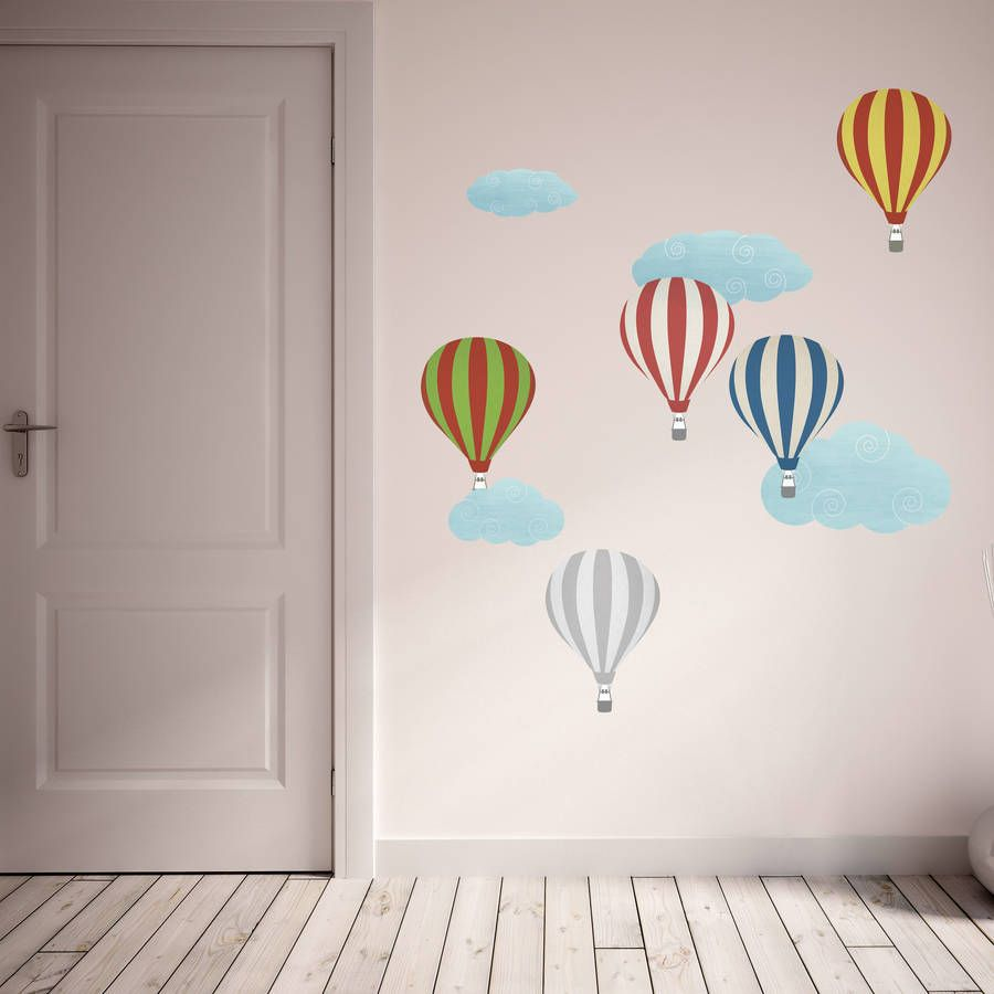 Air Balloon Wall Stickers Google Search Ambientes Bebs