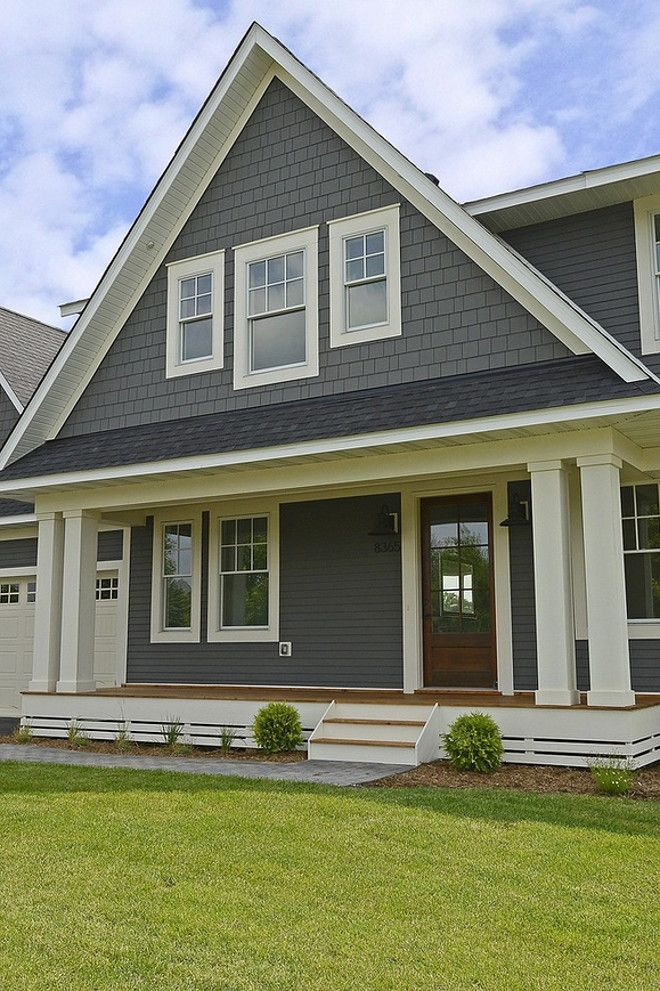 Benjamin Moore chelsea gray, white dove, black beauty | Exterior ...