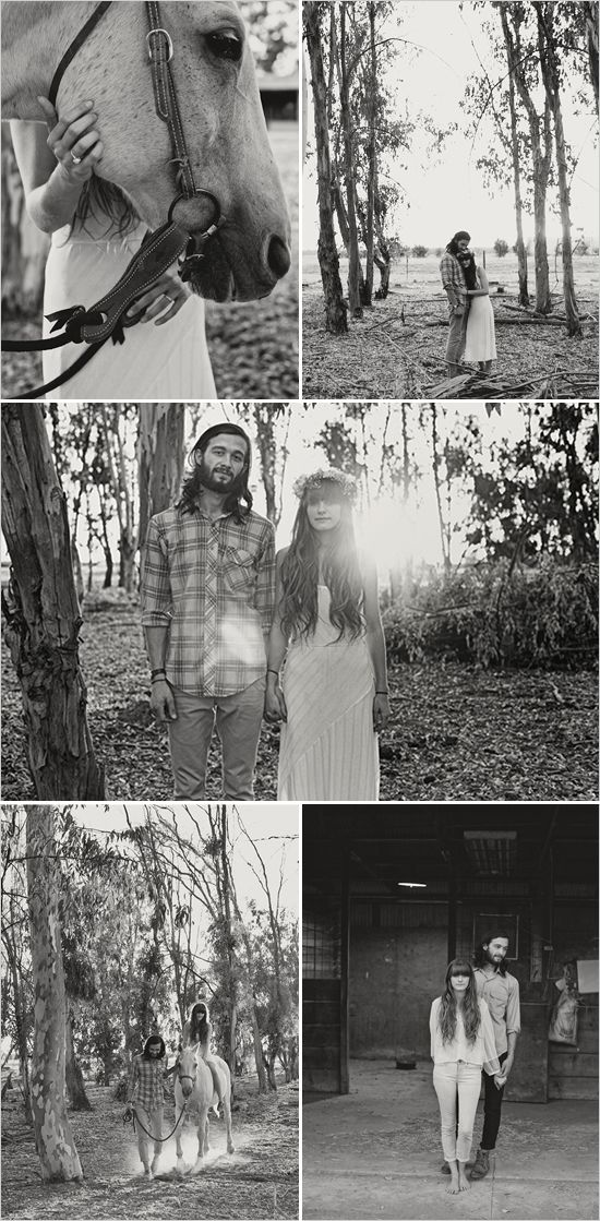 hippie wedding engagement (I don't think I'll ever get married but this is cute!)