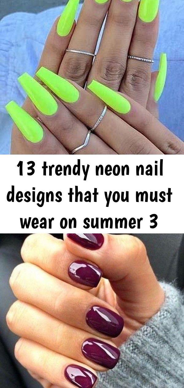 13 trendy neon nagelontwerpen die je in de zomer moet dragen 3