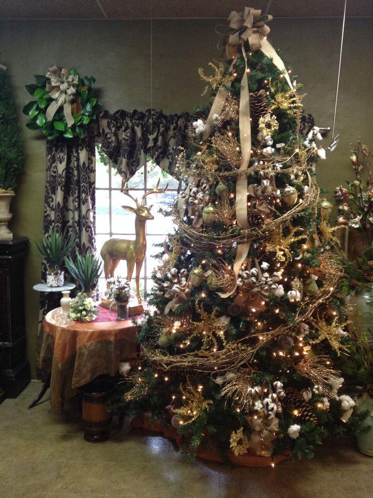 Burlap And Cotton Tree Cotton Christmas Tree Fun Christmas