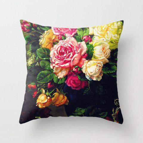 Velveteen Pillow - Floral - Flower Pillow - Flowers - Spring - Mother's Day - Spring Decor - Accent Pillow - Decorative Pillow