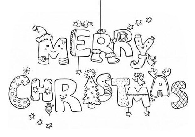 Merry Christmas Pagine Da Colorare Per Bambini Pagine Da Colorare Di Natale Disegni Da Colorare Per Bambini