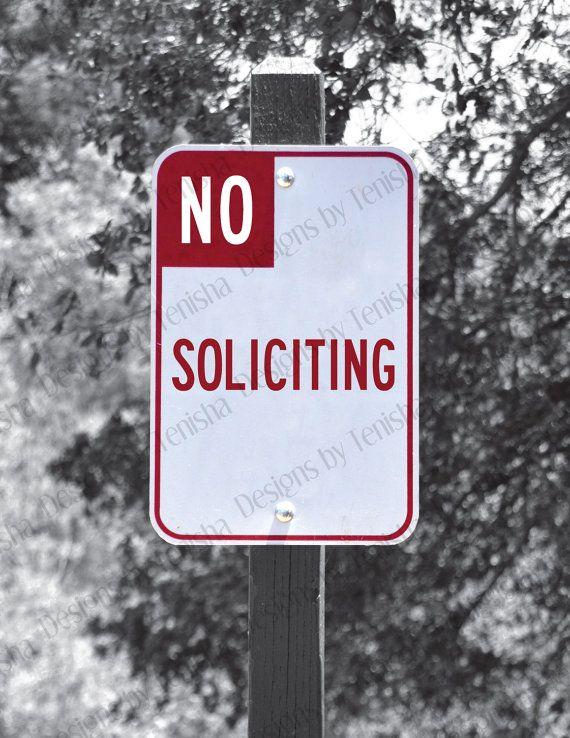 Street Sign Home Decor Captivating No Soliciting Sign Street Sign No Solicitors Door Sign Inspiration