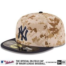 252487c4200 New York Yankees 2014 Authentic Collection USMC 59FIFTY On-Field Game Cap
