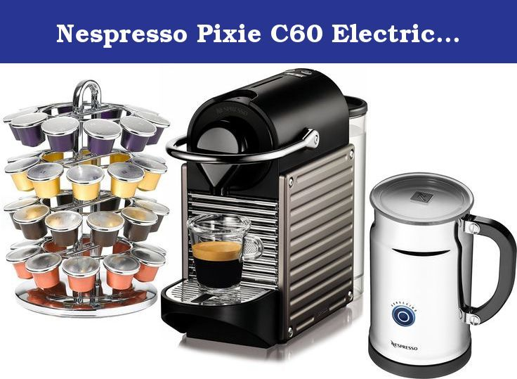 Nespresso Pixie C60 Electric Titan Espresso Machine With Aeroccino