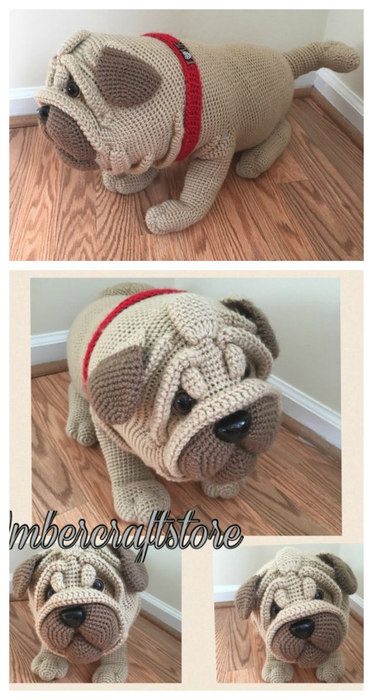 Pug dog crochet pattern PDF. English USA | oyuncak | Pinterest ...