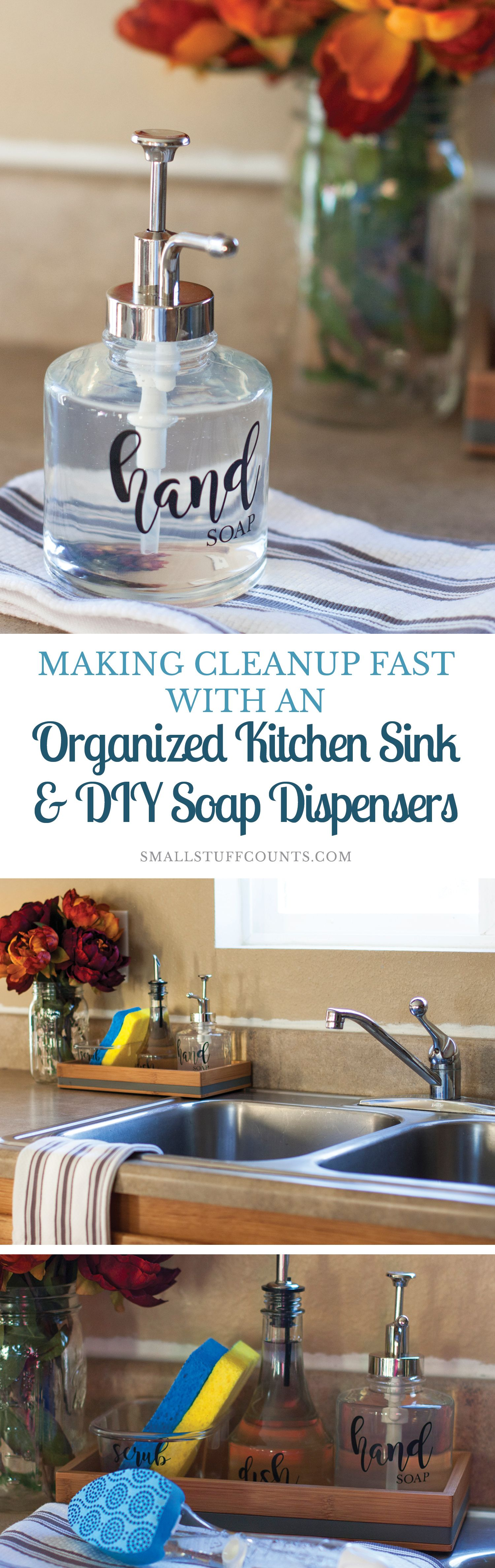 making cleanup fast with an organized kitchen sink diy soap rh pinterest com