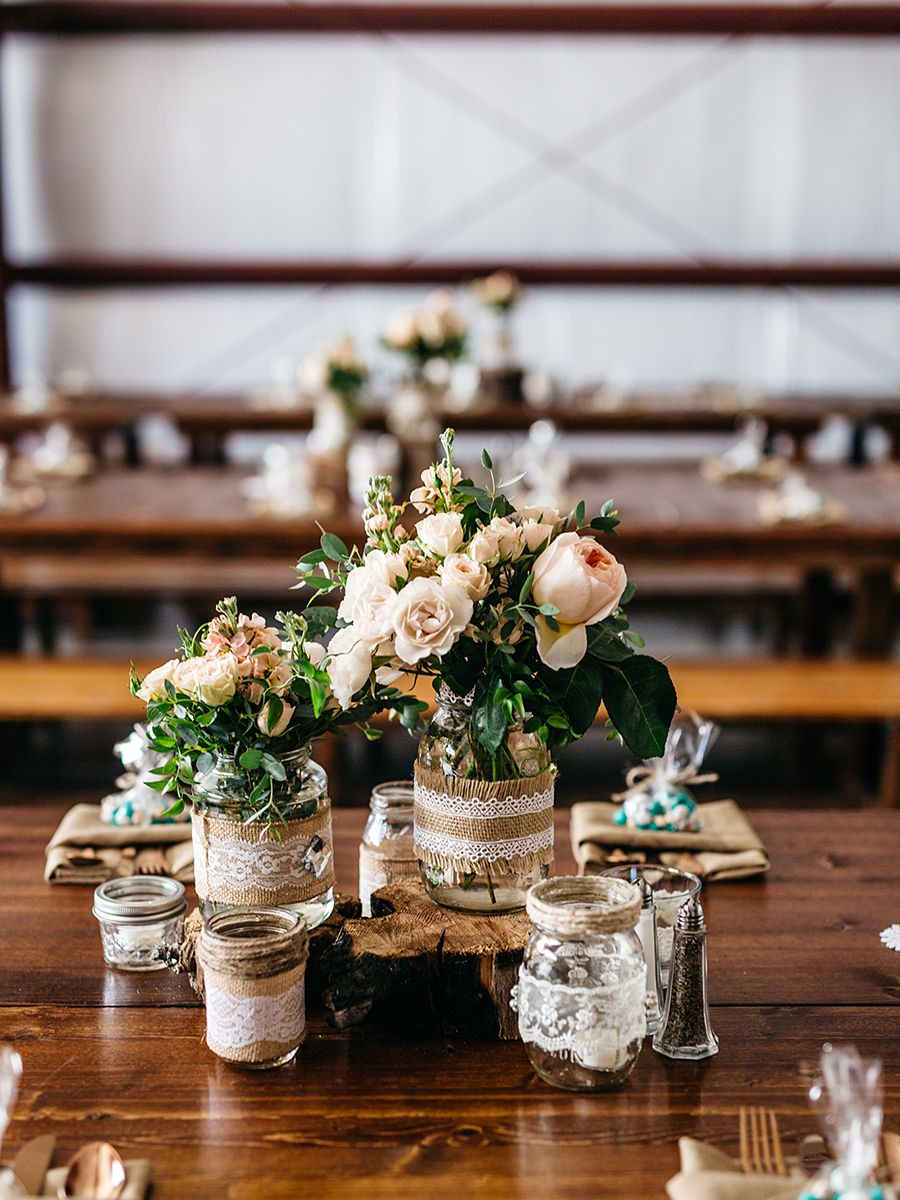 15 centerpiece ideas for a rustic wedding table decorations rh pinterest com