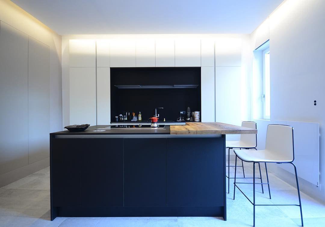 Amazing kitchen island in fenix smart material