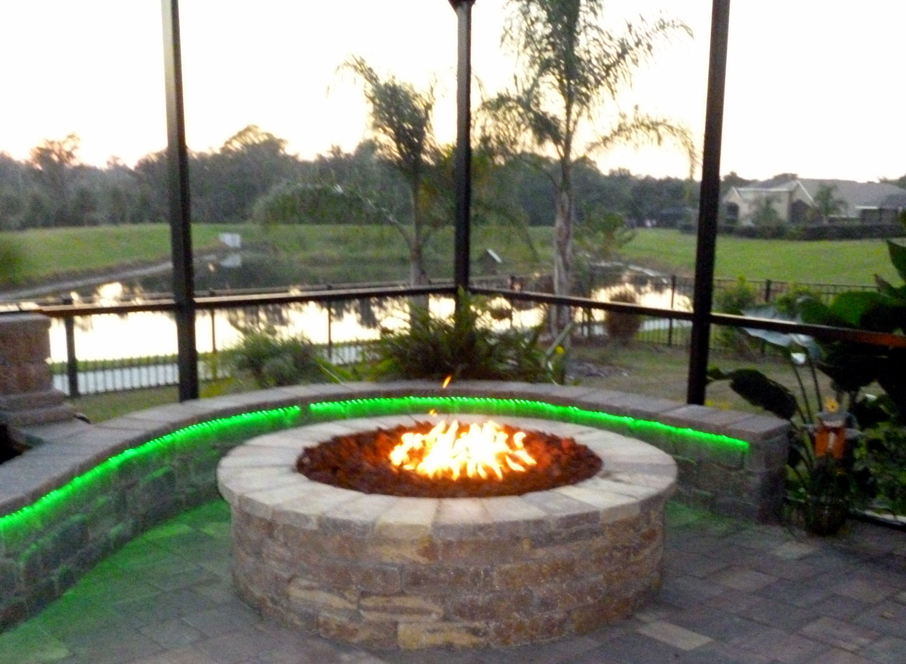 Firepit Led Lights...definitely going to add this to our