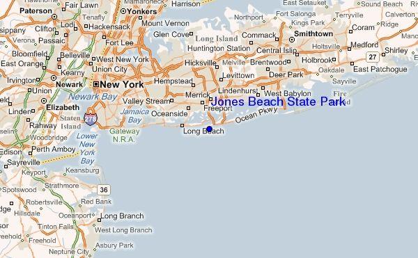 Jones Beach On The Map