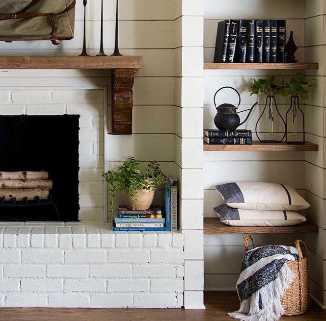 shelf styling fireplaces farmhouse fireplace farmhouse home rh pinterest com