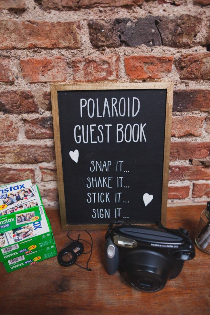 Polaroid Guest Book Photos Instax Indie Rustic DIY Fun Wedding Party Sallytphotography