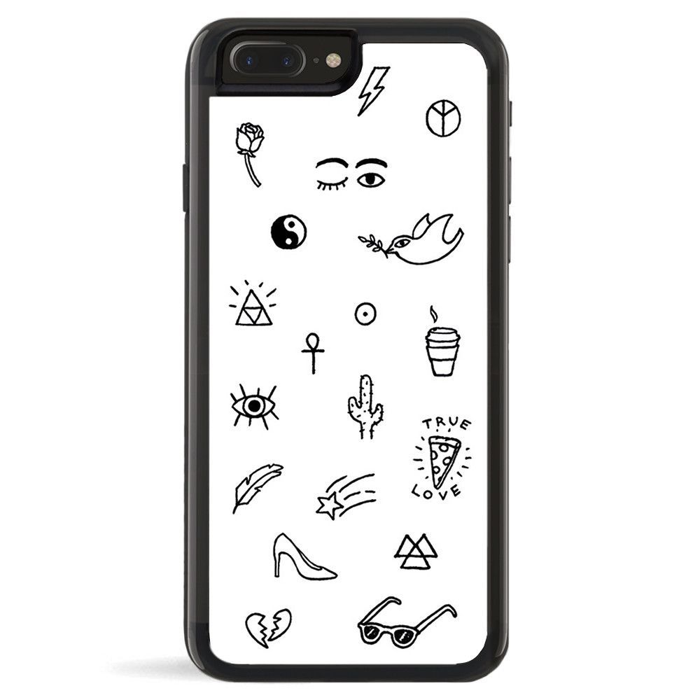 Rubber Cell Phone Case - BLACK - Poke