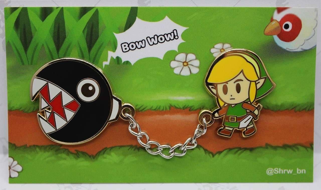 Links Awakening Chain Chomp Pin made by ShiroBun -