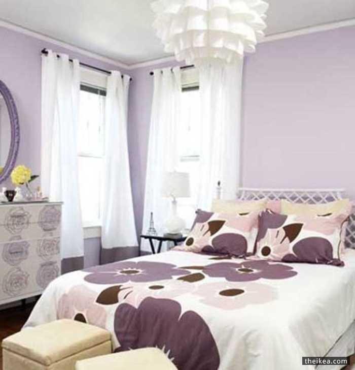 Purple Romantic Bedrooms