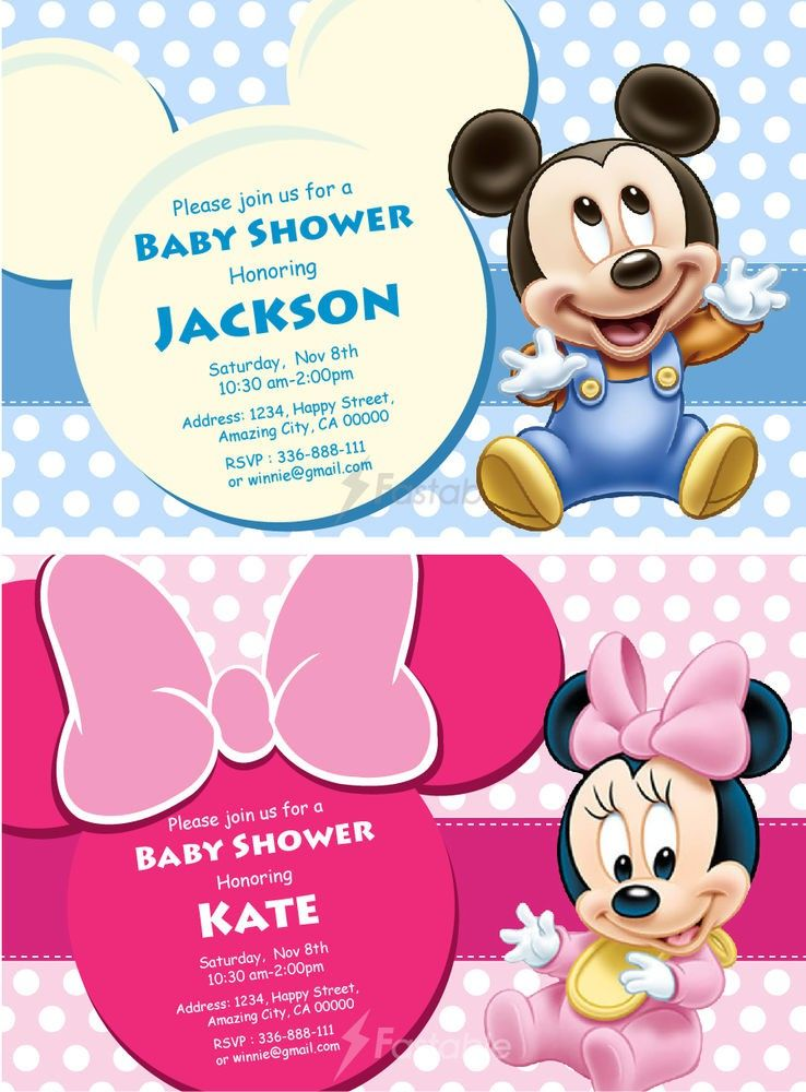 mickey mouse baby shower invitations party city - Baby Shower Invitations Party City