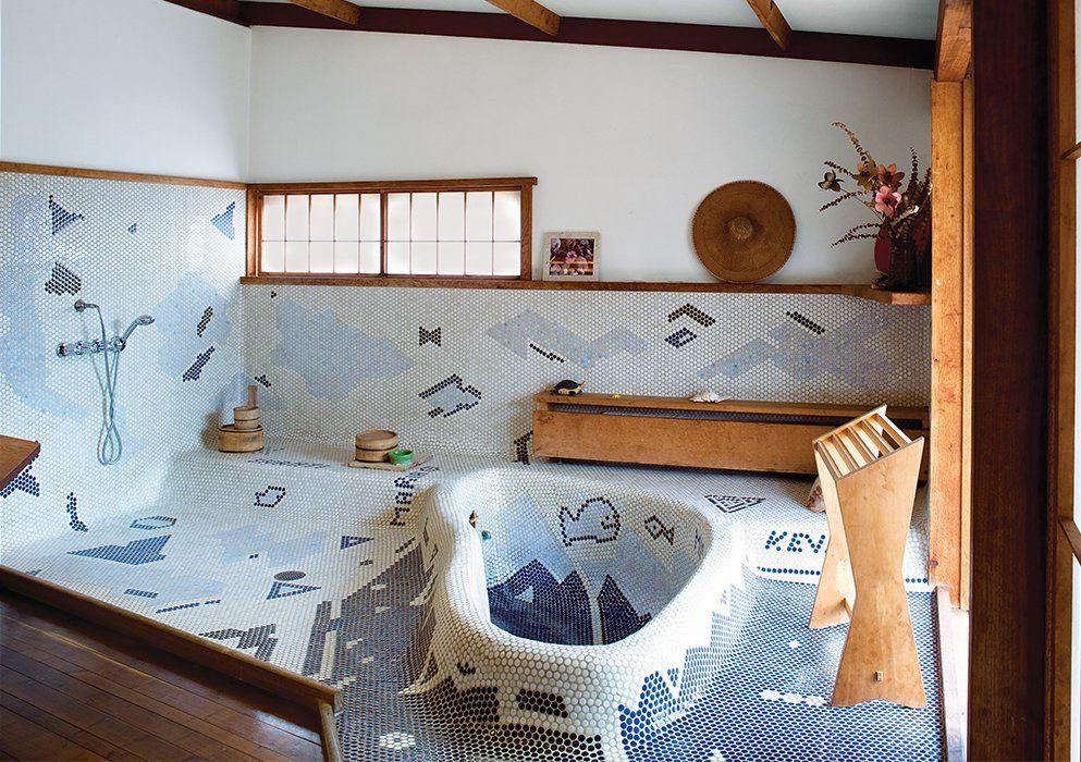 A Serene Nakashima Bathroom Survives