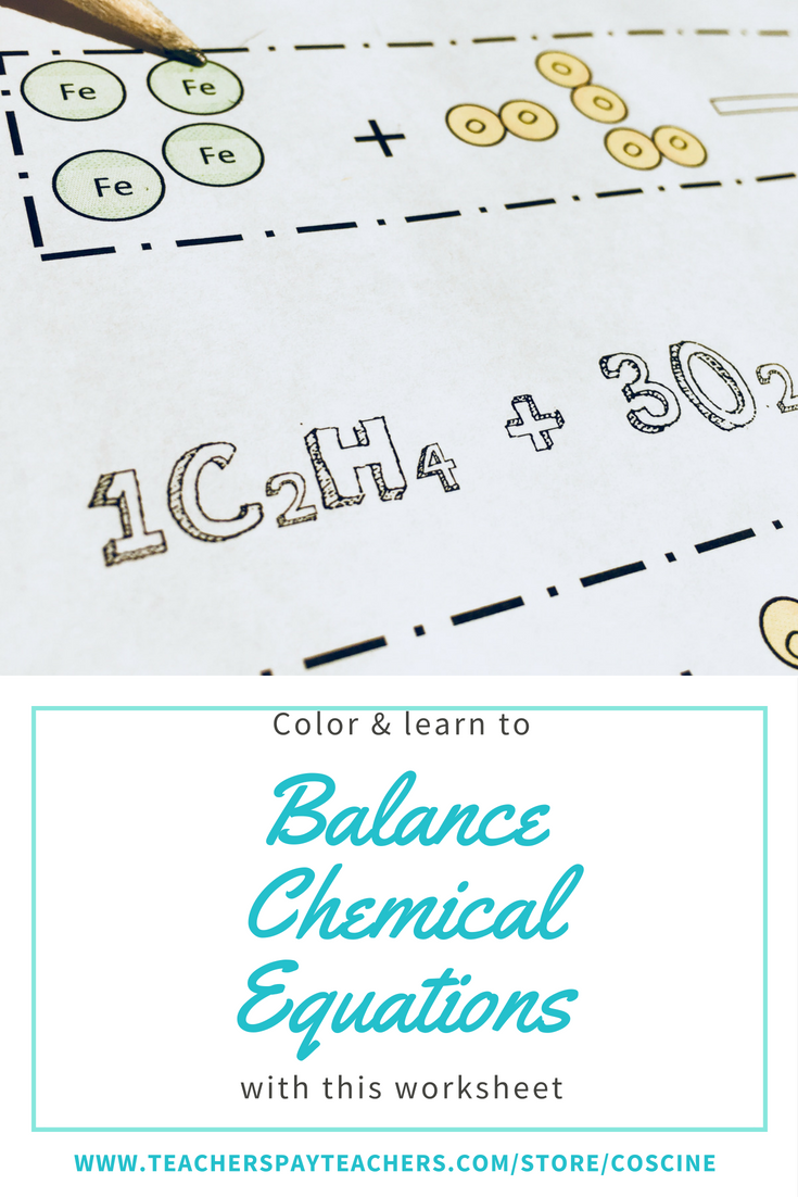 hight resolution of Chemistry worksheets for visual learners! Includes key to save you time!  Use as homework