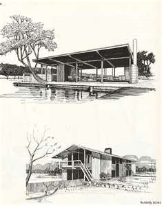 Mid Century Architecture Renderings Would Look Awesome On My Wall