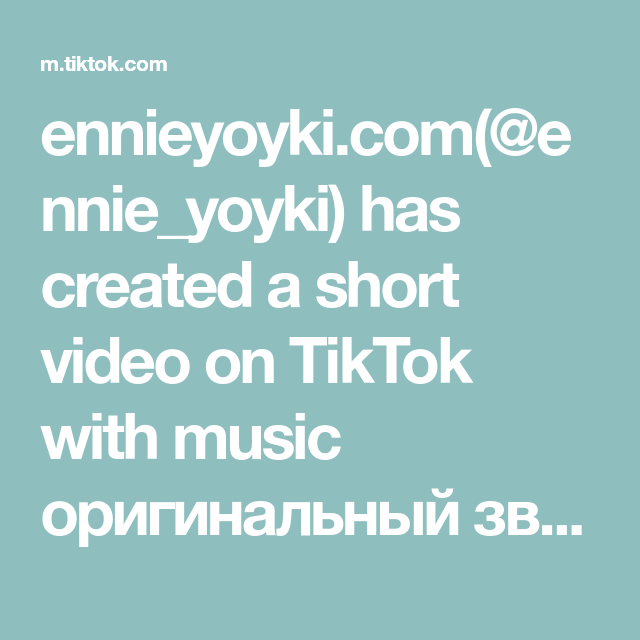 Ennieyoyki Com Ennie Yoyki Has Created A Short Video On Tiktok With Music Originalnyj Zvuk Just Some Kids Going Cra In 2020 Cute Girl Illustration Good Music Music