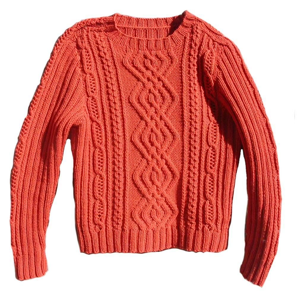 Rope Knitting Patterns : Meandering cables sweater cable knitting