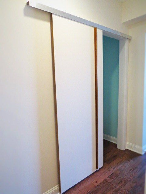Diy A Sliding Barn Type Bedroom Door Sliding Bedroom Doors Sliding Barn Door Hardware Sliding Doors