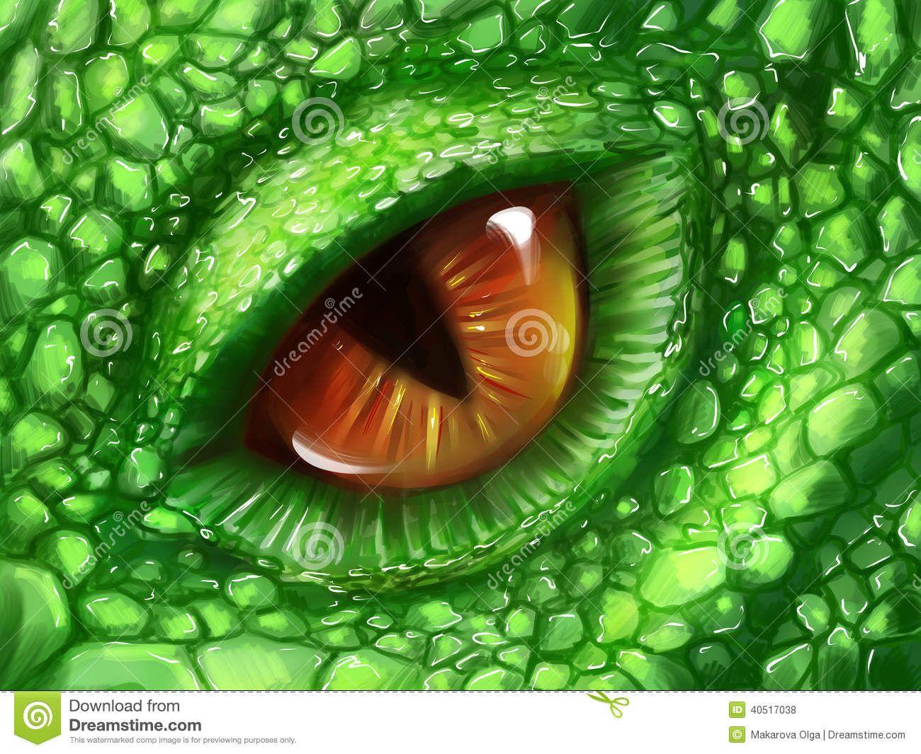 Eye Green Dragon Hand Drawn Skin Fantasy Creature Digital Art 40517038 Jpg 1300 1065 Ojo De Dragon Criaturas Fantasticas Dragones