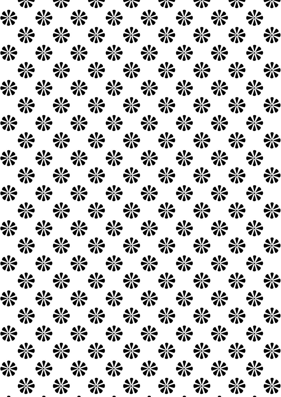 Scrapbook paper designs to print - Free Digital Black And White Floral Scrapbooking Paper Ausdruckbares Geschenkpapier Freebie