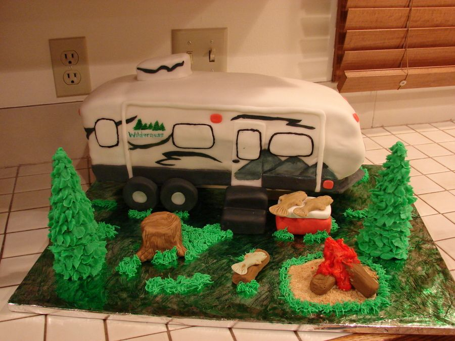 Camper Cake Birthday Party Ideas Camper Cakes Cake