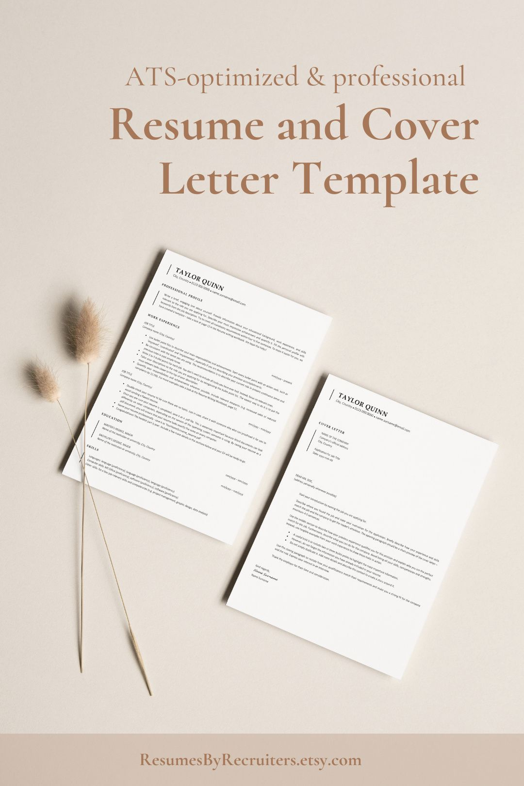Ats Resume Template Word Free Download