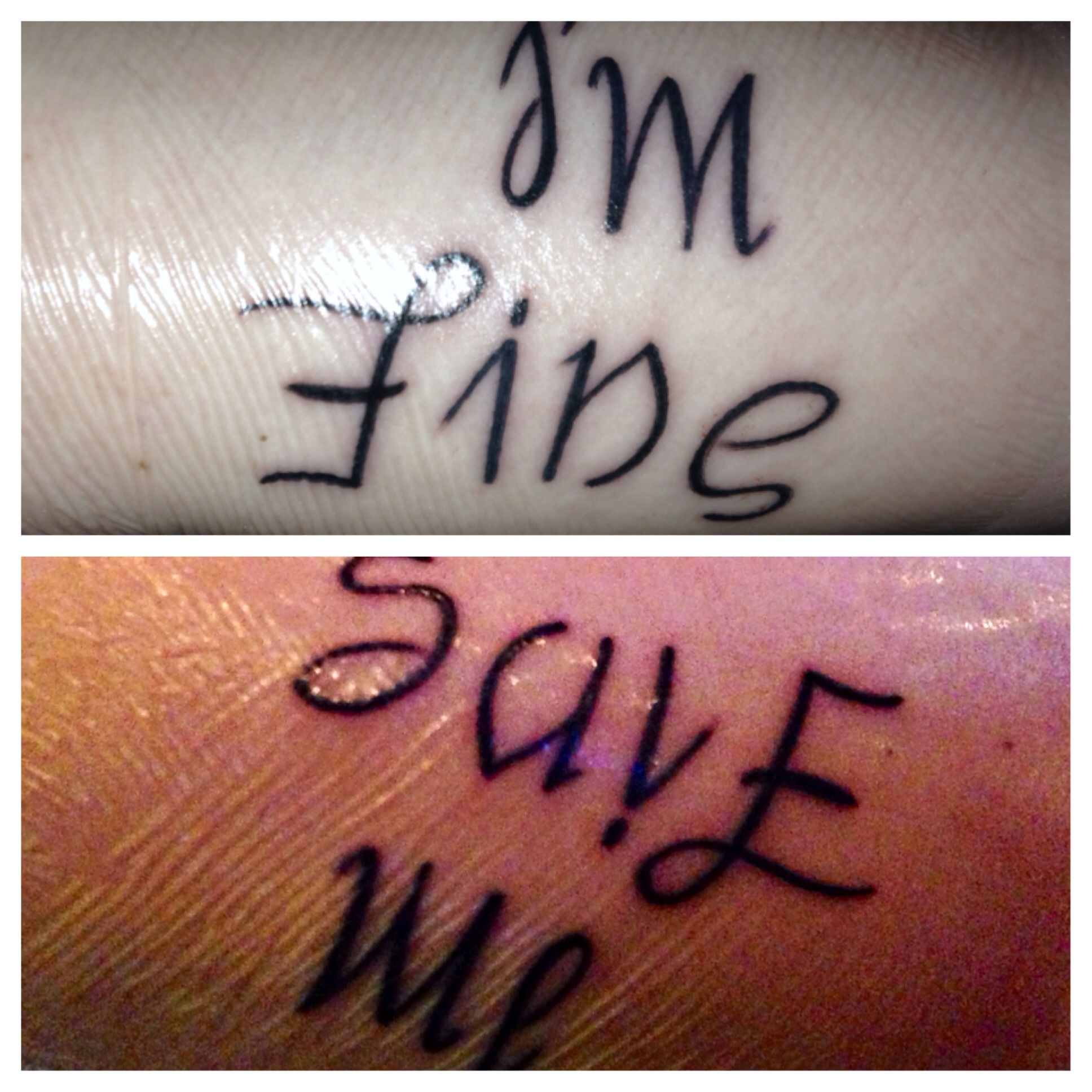 I M Fine Save Me Reversible Tat Tribute To My Lifetime: I'm Fine/save Me Reversible Tat, Tribute To My Lifetime