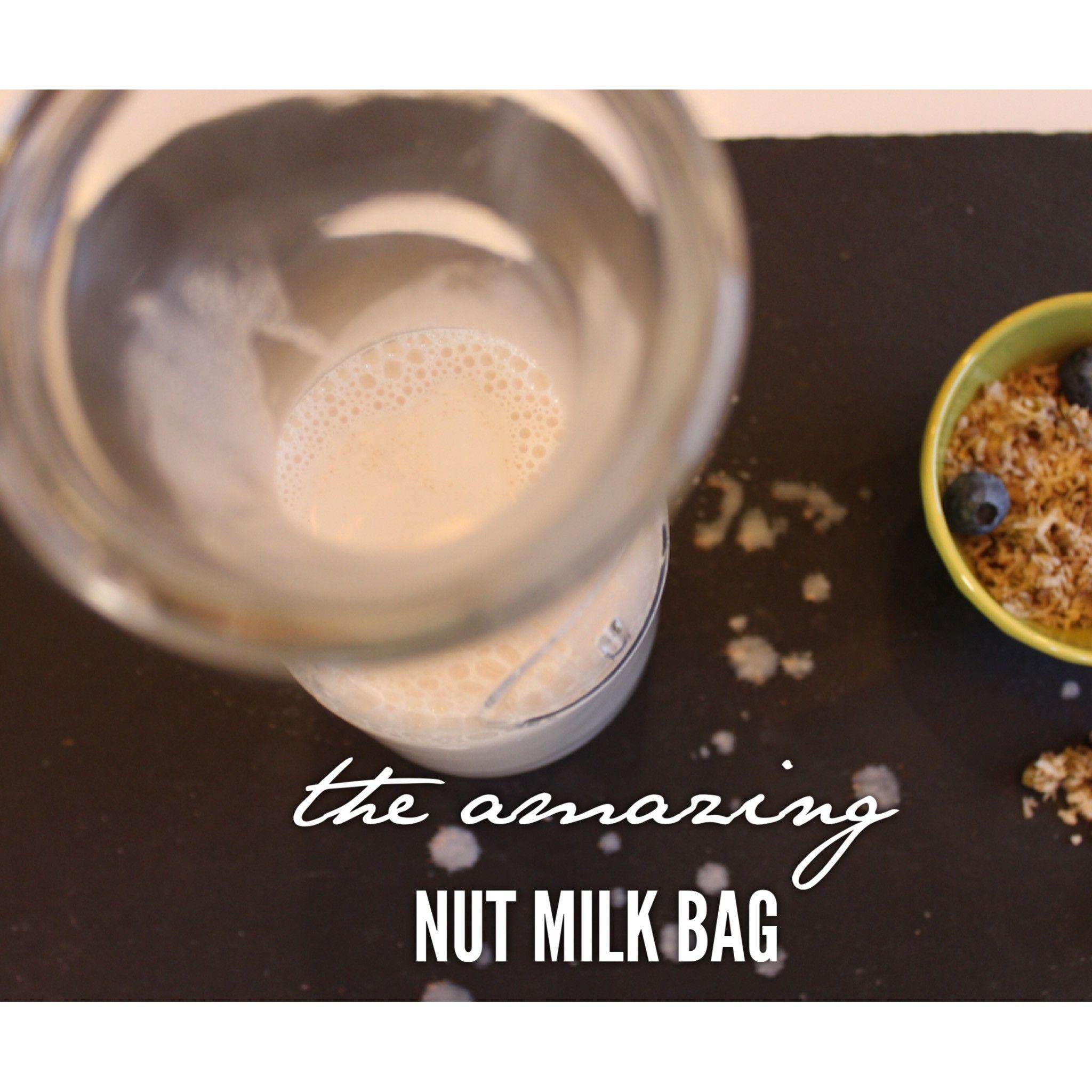 The Amazing Nut Milk Bag Nut milk bag, Bagged milk, Nut