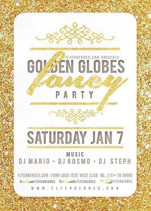 golden globe fancy flyer template https ffflyer com golden globe