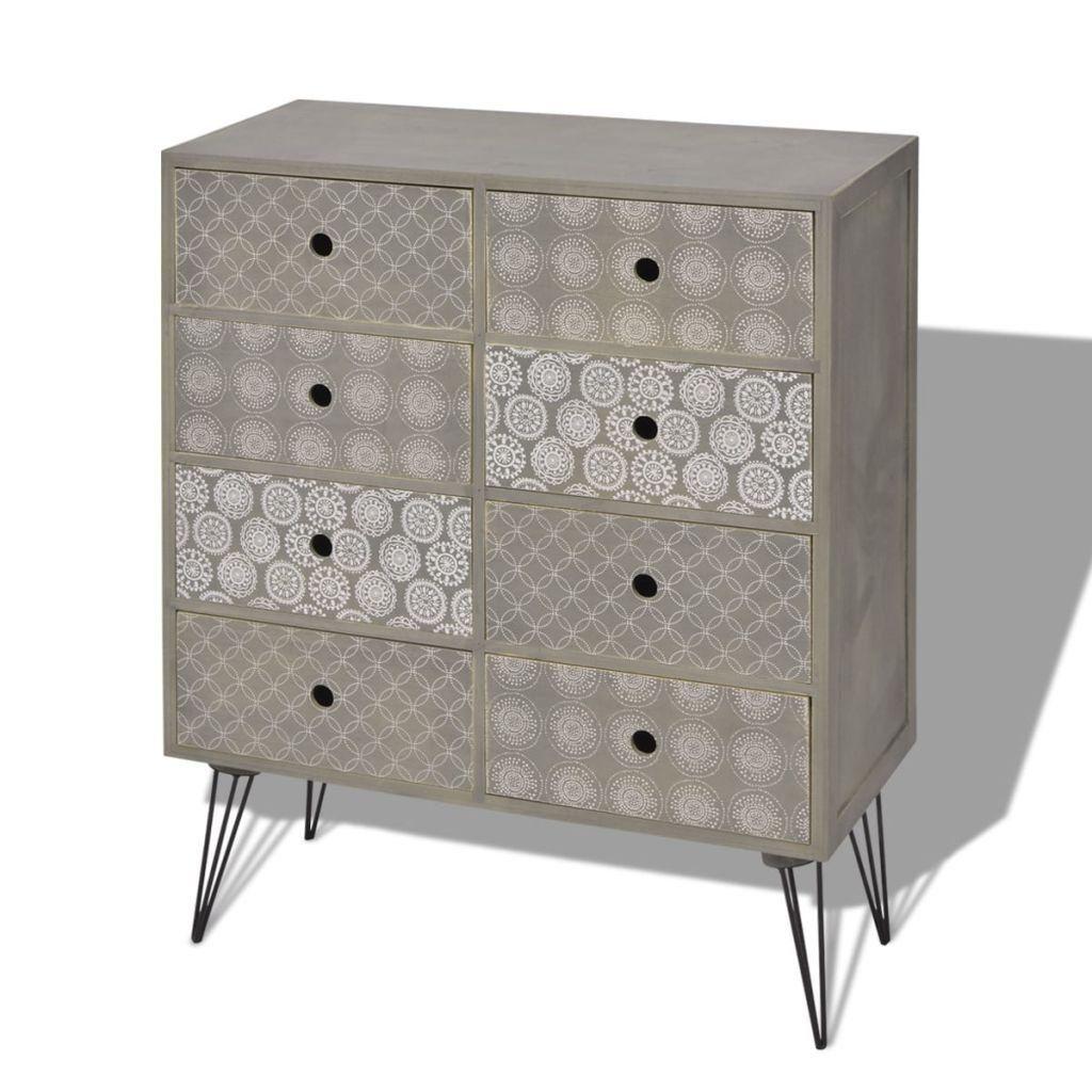 Vidaxl Sideboard Gray Side Cabinet Wood Storage Cupboard Console Table Drawers Lavorist Vintage Living Room Furniture Sideboard Grey Bedroom Vintage #side #cabinet #living #room