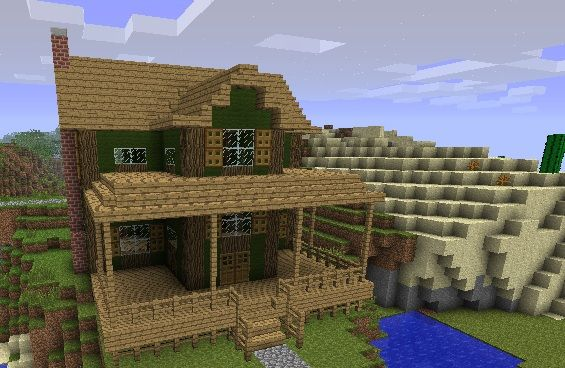 Farmhouse minecraft project  want to build this also rh pinterest