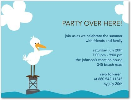 Boat Party Invitationspartyinvitationwording – Family Party Invitation Wording