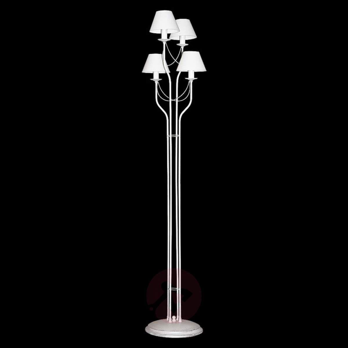 Lampa Stojąca Bona Z Tkaniny Biała W 2019 Lampy Stojące