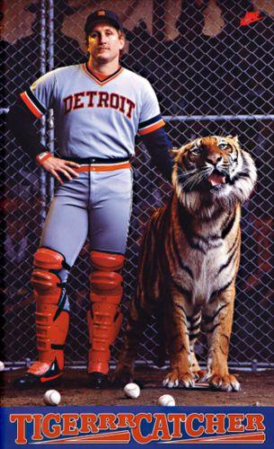 Lance Parrish TIGER CATCHER (1983) Detroit Tigers Vintage Original Nike Poster - Sold for $49.99 Oct 2013